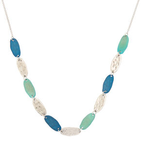 Silver Mixed Patina Statement Necklace,
