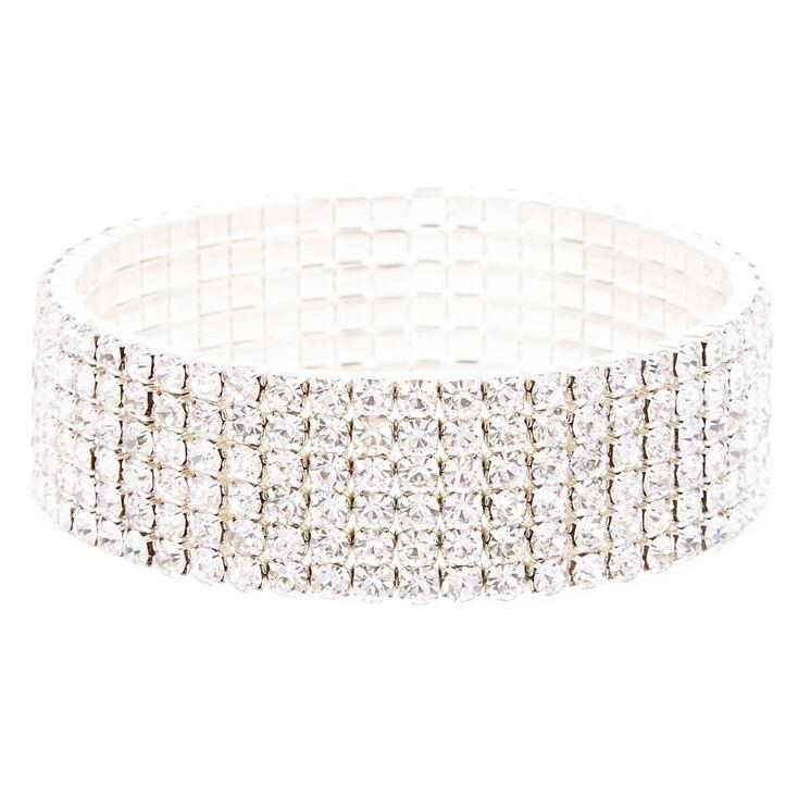 Chevron Crystal Earrings & Bracelet Set,