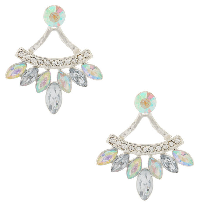 Iridescent Front & Back Earrings,