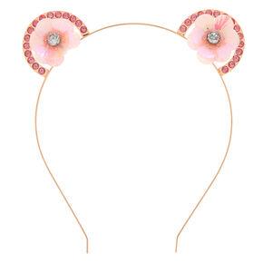 Rose Gold Sequin Flower Ear Headband,