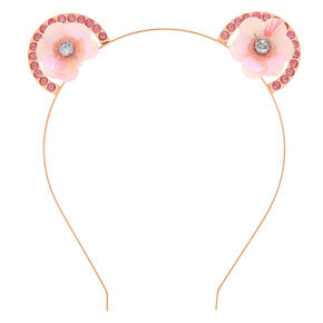 Rose Gold Sequin Flower Ear Headband,