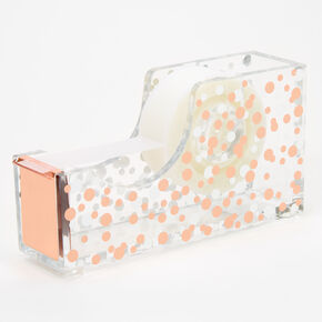 Rose Gold Polka Dot Tape Dispenser,