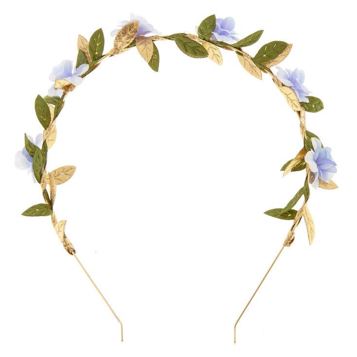 Periwinkle Flower Leaf Headband,