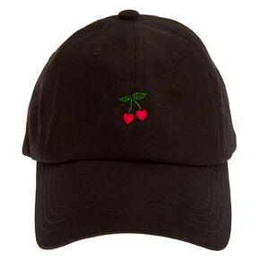 Cherry Hearts Baseball Cap - Black,