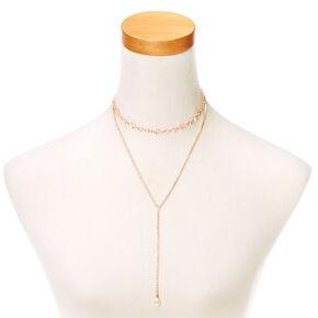 Embellished Gold-Tone Layered Necklace,