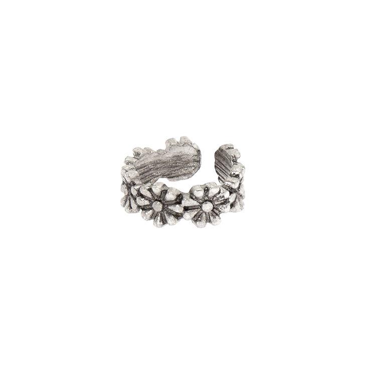 Silver Daisy Ear Cuff,