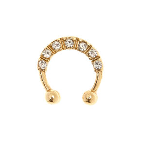 Pretty Crystal Faux Septum Ring,