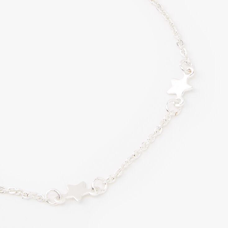 Silver Stars Chain Bracelet,