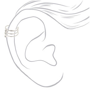 Silver Triple Band Ear Cuff,