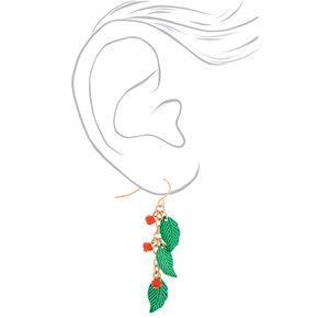 """1.5"""" Mistletoe Drop Earrings,"""
