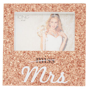 Miss To Mrs. Glitter Photo Frame - Rose Gold,