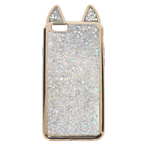 Metallic Silver Cat Phone Case - Fits iPhone 5/5S/SE,