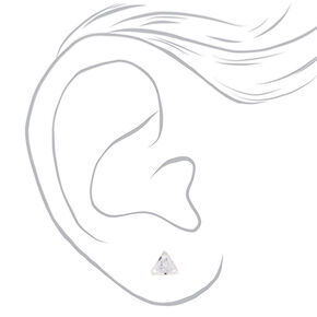 Cubic Zirconia 8MM Geometric Stud Earrings,