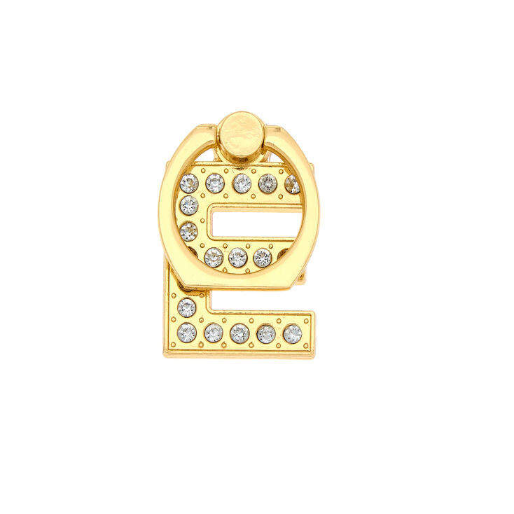 Gold Initial Ring Stand - E,