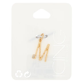 Gold Initial Charm - M,