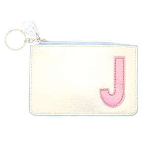 Pearlescent Initial Coin Purse - J,
