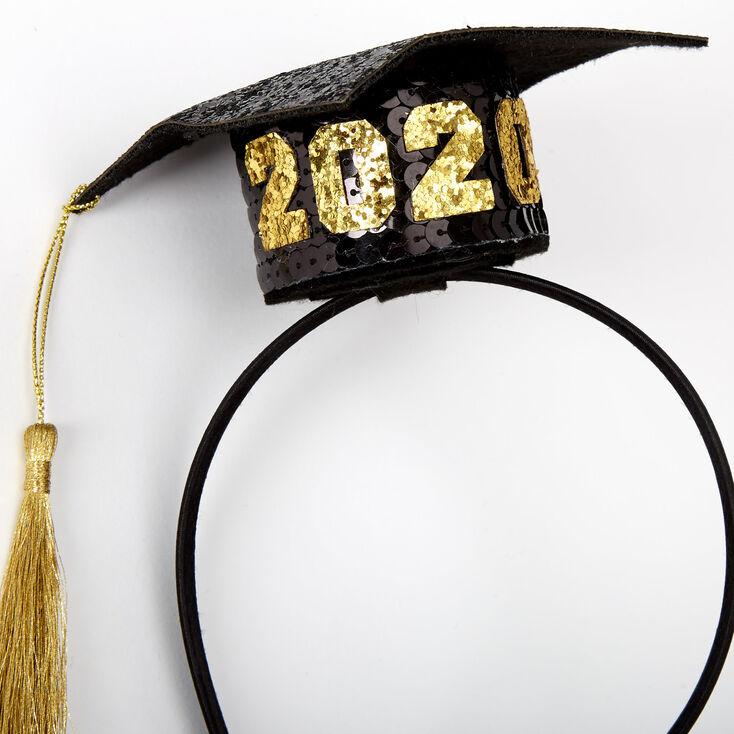 2020 Graduation Cap Headband - Black,