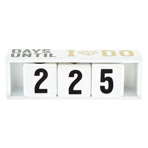 Days Until I Do Countdown Blocks - White,