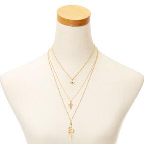 Gold Snake Multi Strand Necklace,
