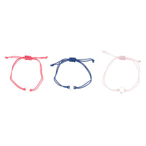 Girly Circle Adjustable Bracelets - 3 Pack,
