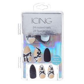 Snake Skin Instant Nails,