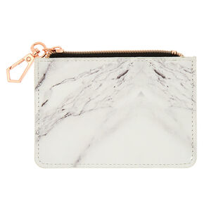 Marble Coin Purse - White,