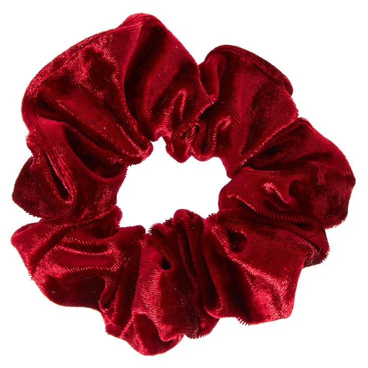 Velvet Hair Scrunchie - Burgundy,