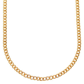 Gold Embellished Mini Chain Link Necklace,