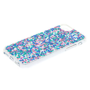 Blue Confetti Glitter Phone Case - Fits iPhone 6/7/8 Plus,