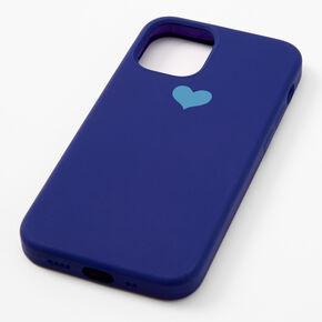 Navy Blue Heart Phone Case - Fits iPhone 12 Mini,