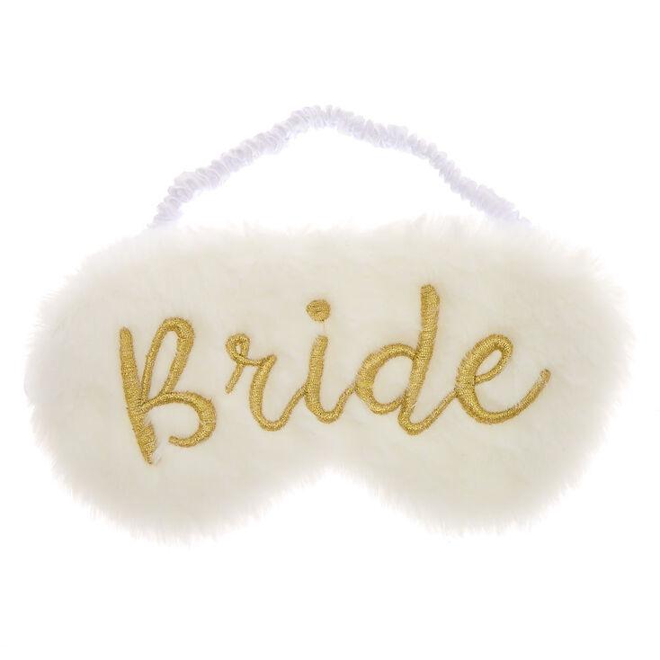 Plush Bride Sleeping Mask - White,