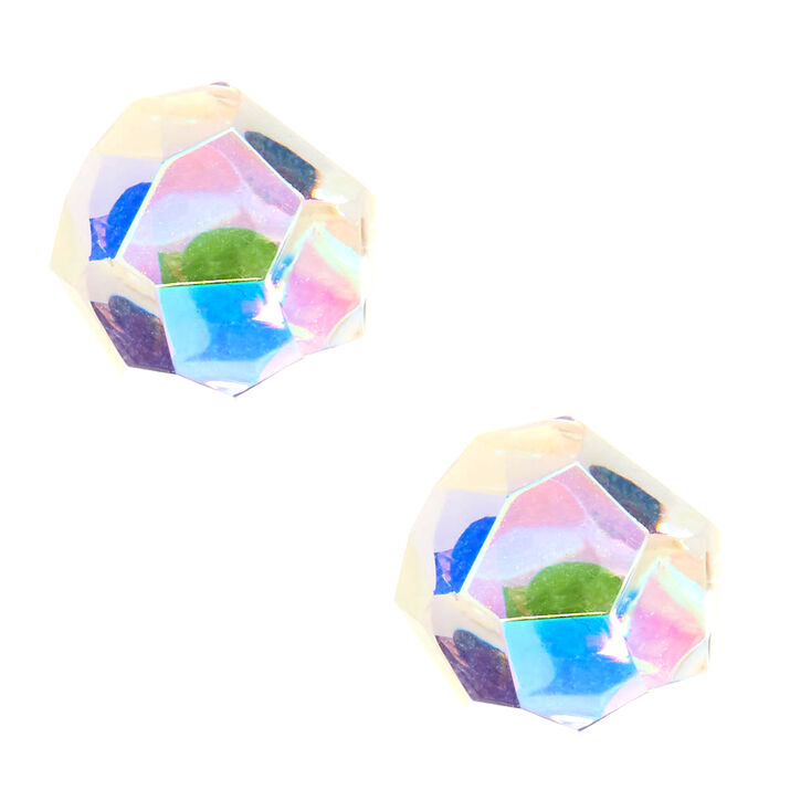 Iridescent Prism Stud Earrings,