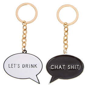 Word Bubble Keychain Set,