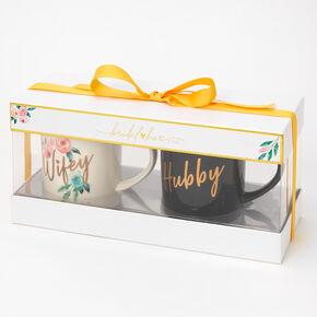 Wifey & Hubby Floral Mug Set - 2 Pack,