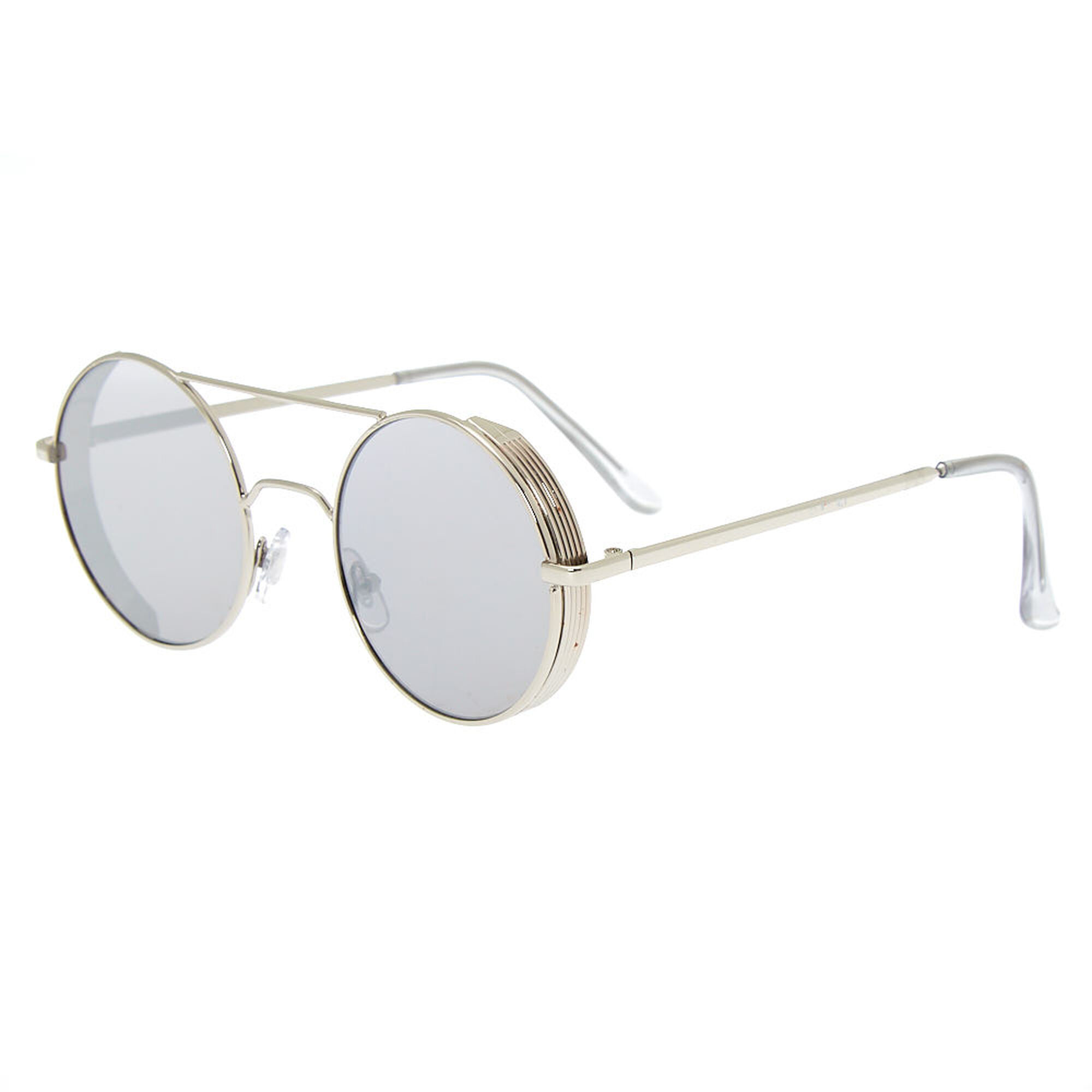 903434c89 Round Metal Frame Sunglasses - Silver | Icing US