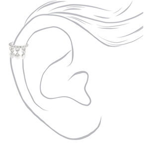 Silver Heart Charm Ear Cuff,