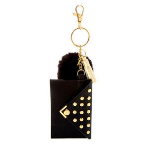 Pom Pouch Keychain - Black,