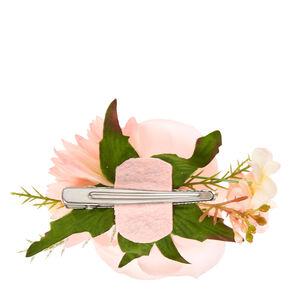 Pink Flower Corsage Hair Clip,