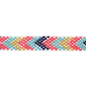 Chevron Beaded Choker Necklace,