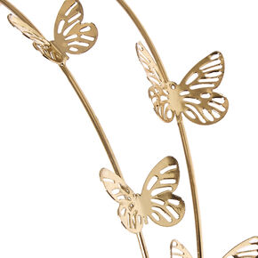 Gold Double Row Butterfly Headband,
