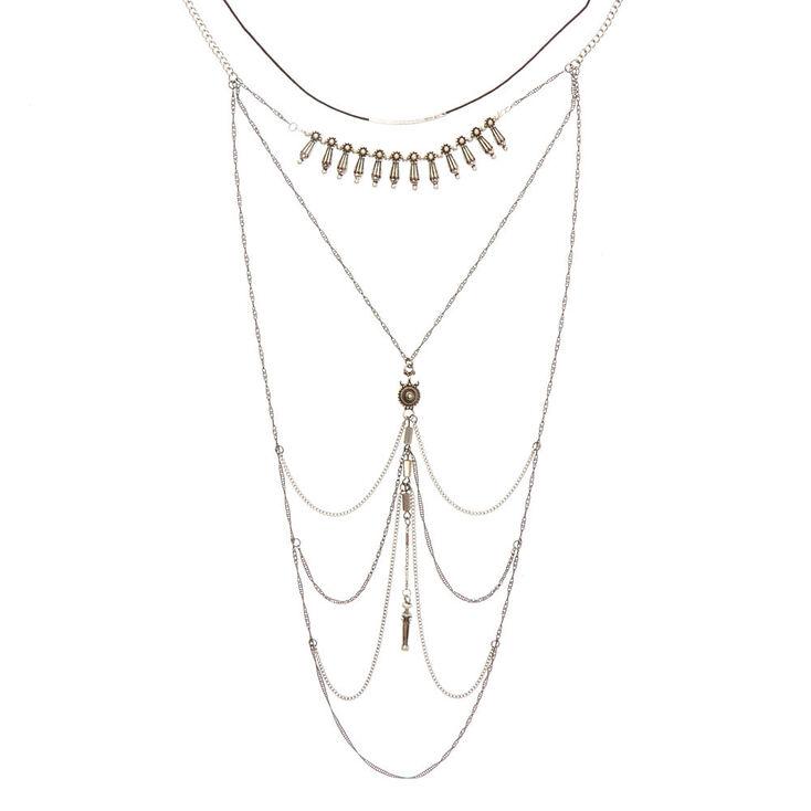 Mixed Metal Western Choker Jewelry Set,