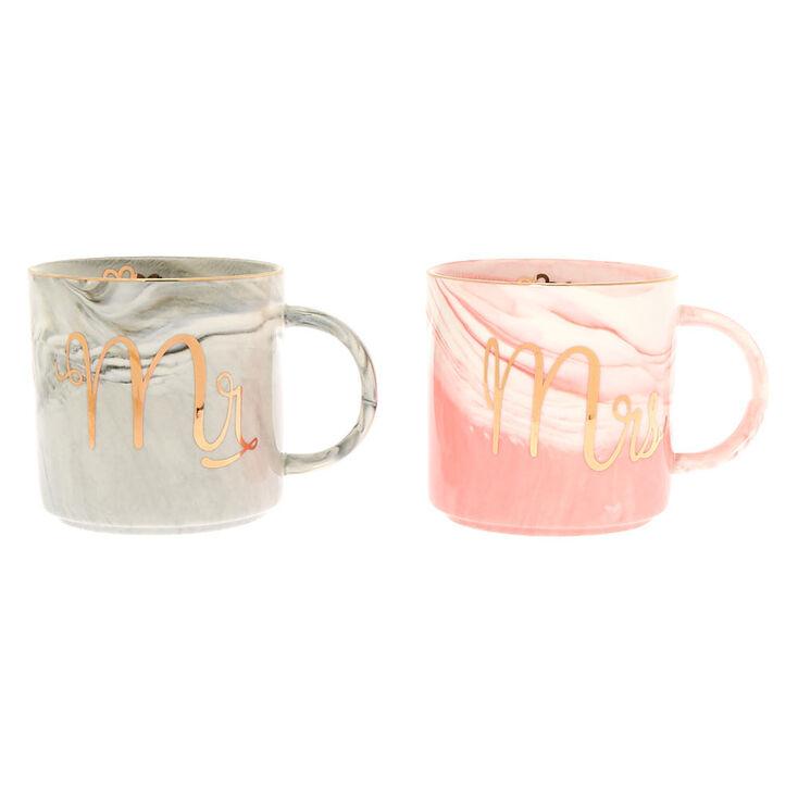 Marble Mr. and Mrs. Mug Set - 2 Pack,