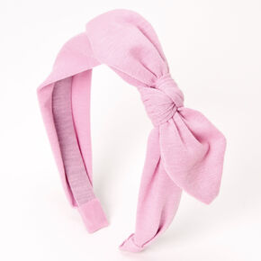 Knotted Bow Headband - Lilac,