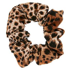 Leopard Print Hair Scrunchie,
