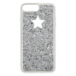 Silver Glitter Star Phone Case - Fits iPhone 6/7/8 Plus,
