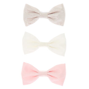 Rose Gold Mix Hair Bow Clips - 3 Pack,