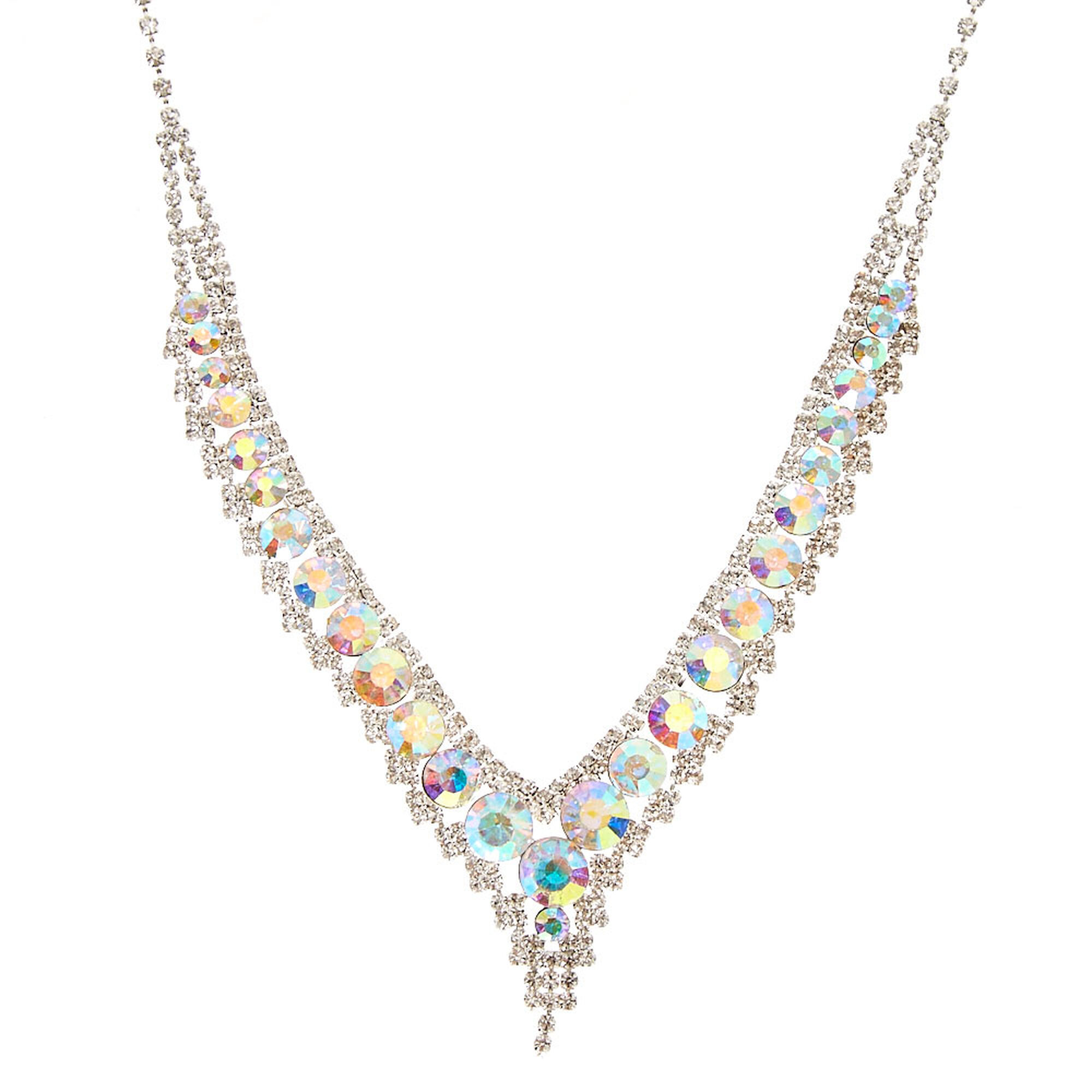 icing v us kate iridescent crystal necklace