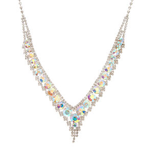 Iridescent Kate Crystal V Necklace,