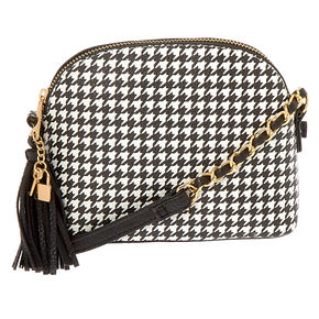 Houndstooth Crossbody Bag,