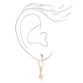 Gold Edgy Embellished Ear Cuff & Mixed Earrings - 6 Pack,